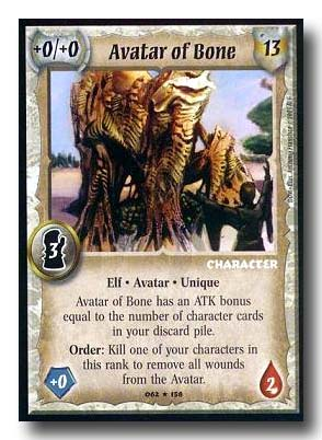 Warlord CCG Dominance Avatar of Bone