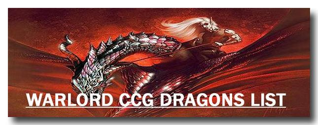 Warlord CCG Warlord Saga of the Storm Dragon Card List