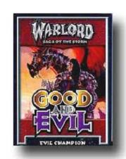 warlord ccg warlord saga of the storm good and evil deverenian deck evil champio Sir Rhawn