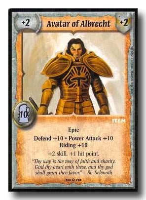 Warlord CCG Dominance Avatar of Albrecht