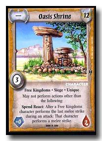 Warlord CCG Southern Kingdoms Oasis Shrine