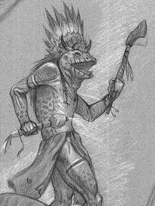 Warlord Saga of the Storm Sketch Vash-arrosh