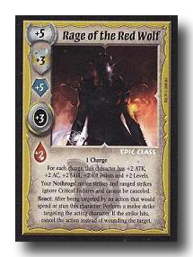 Warlord CCG Warlord Saga of the Storm Hive Mind Rage Red Wolf