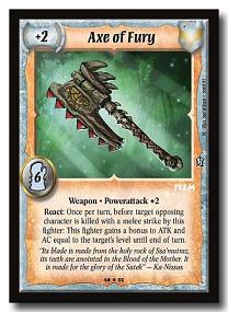 Warlord CCG 4th Edition Treasure Chest Axe of Fury