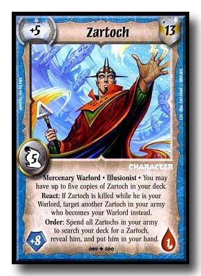 Warlord CCG Call to Arms Power and Glory Zartoch