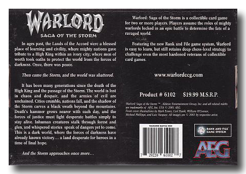 Warlord CCG Warlord Saga of the Storm Battle Box I Down Cover