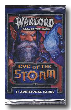 3 Warlord Saga Of The Storm CCG Eye Of The Storm Booster Packs