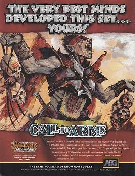 Warlord CCG Warlord Saga of the Storm Call to Arms Power and Glory Pub Advertising