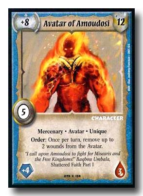 Warlord CCG Dominance Avatar of Amoudosi